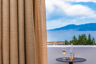 Panoramic Sea View Suite Ariadne balcony view