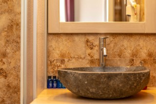 Panoramic Sea View Suite Ariadne bath amenities